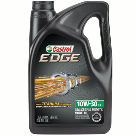 Castrol edge 10w 30 full synthetic motor oil 5 qt for 5 30 motor oil