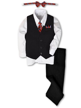 647fa15bf Product Image Johnnie Lene Boys Formal Pinstripe Dresswear Vest Set JL40