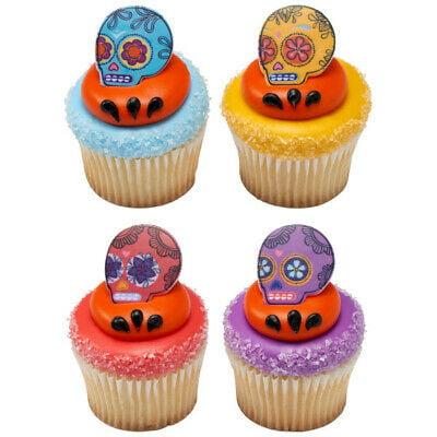 Dia De Los Muertos Spirit Cupcake Rings - 24 Count - 24089 - National Cake Supply