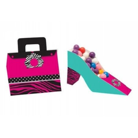 Zebra Stripes 'Pink Zebra Boutique' Animal Print Favor Boxes (4ct)](Pink Zebra Boutique)