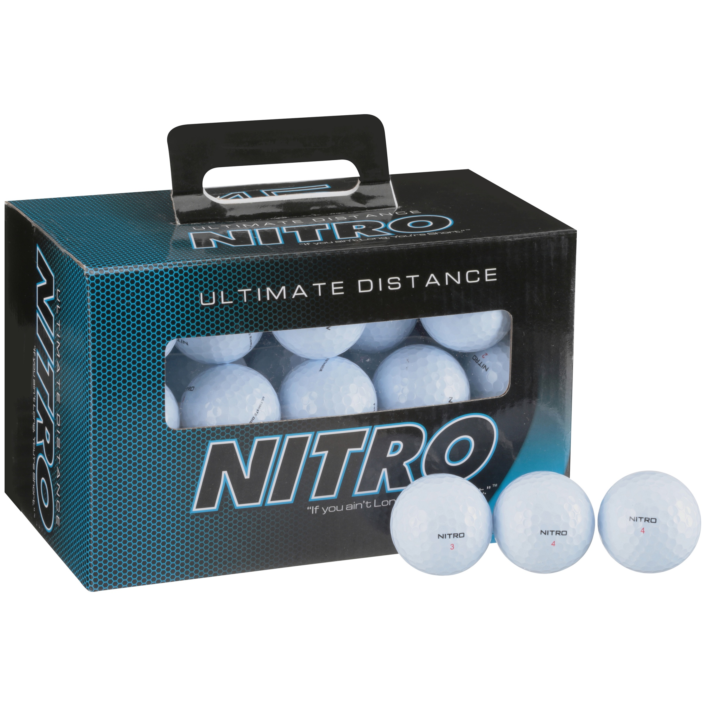Nitro Ultimate Distance White Golf Balls 45 ct Box by Nitro Golf LLC
