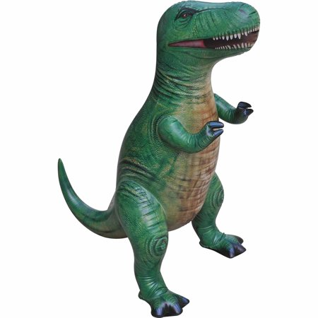Giant Inflatable T Rex (Trex Dinosaur Inflatable 37 inch for pool party decoration birthday gift kids and adult by Jet Creations)