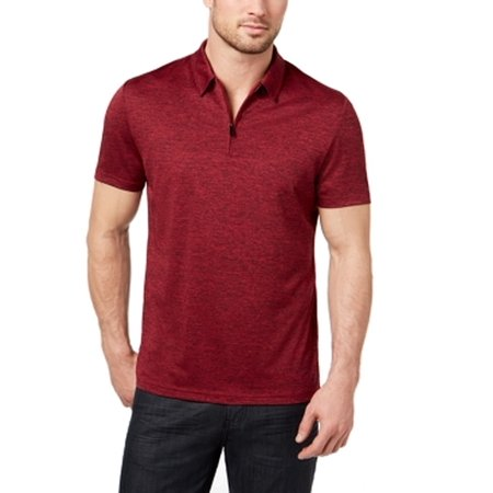 Clay Mens Small Stretch 1/2 Zip Polo Rugby Shirt S