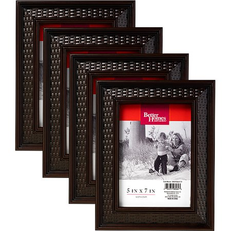 Better Homes And Gardens 5 39 39 X 7 39 39 Woven Picture Frame Set Of 4