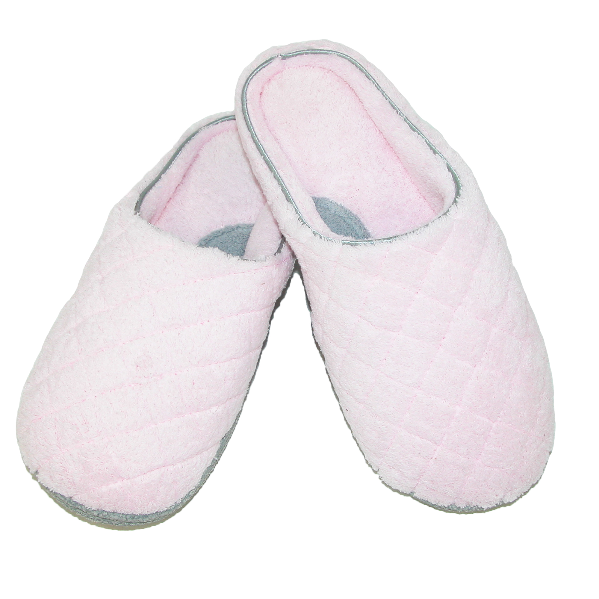Dearfoams Size Large Womens Quilted Microfiber Terry Clog