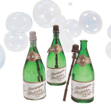 24 Champagne Bottle Wedding Bubbles Mini Party Favors Reception New Years for $<!---->