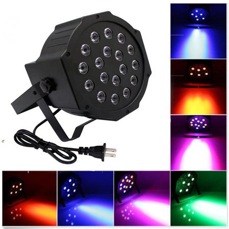 Ktaxon 18 Led Par Lights For Stage Lighting With Remote 4 In 1 Rgb Poweful 64 Lamp Dj Club Wedding Family Party Disco