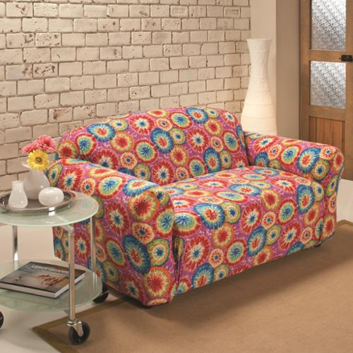 Madison Industries Stretch Jersey Tie-dye Loveseat Slipcover