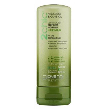 Giovanni 2chic Avocado and Olive Oil Ultra-Moist Deep Moisture Hair Mask, 5 Fluid - Deep Moisture Fluid