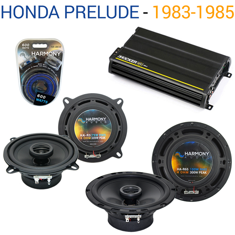 Honda Prelude 1983-1985 EOM Speaker Replacement Harmony R5 R4 & CX300.4 Amp - Factory Certified Refurbished