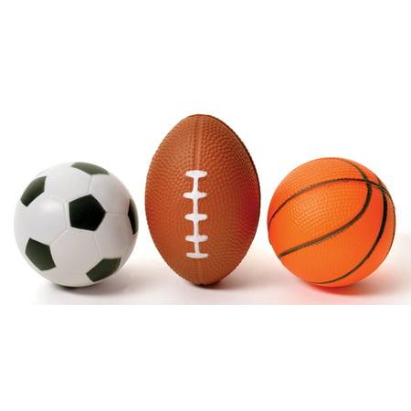 3 Pack Mini Sports Stress Balls Set Football Baseball And Soccer Ball (Germany Mini Soccer Ball)