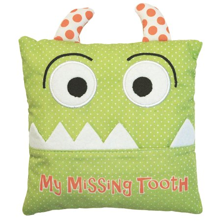 Alma S Designs Tooth Fairy Pillow Cute Green Monster Face 5 By Inches