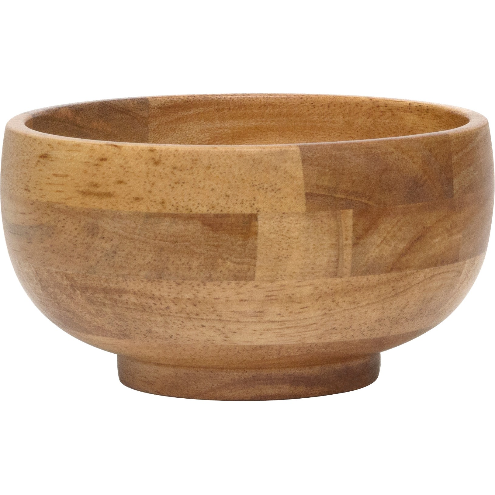 Lipper International Oak Finished Footed Rice Bowls, Set of 4