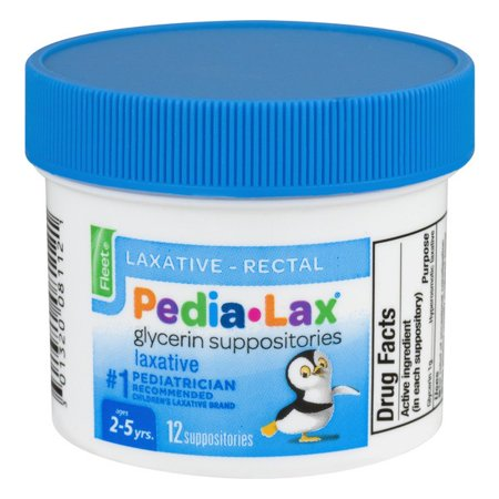 - Fleet Pedialax Glycerine Suppositories, 12 Ct