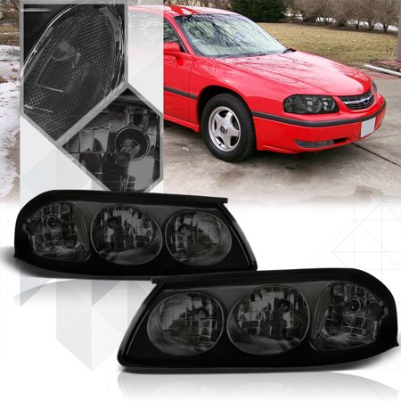 Smoke Tinted Lens Headlight Clear Corner Signal Reflector For 00 05 Chevy Impala 01 02 03 04