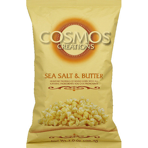 Cosmos Creations Sea Salt & Butter Baked Corn, 7 oz, (Pack of 12)