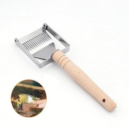 Supersellers Easy Hold Honey Fork Stainless Steel Honey Scraper Home Garden Beekeeping Tools