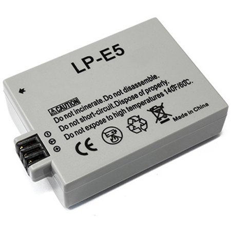 Replacement for Canon LP-E5 LPE5 Battery for Rebel T 1i XSi EOS 500D 1000D Kiss X2