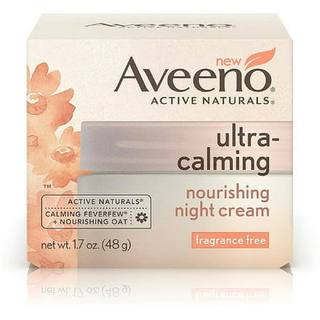 Natural Woman Progesterone Cream (AVEENO Active Naturals Ultra-Calming Nourishing Night Cream, Fragrance Free 1.70 oz (Pack of)