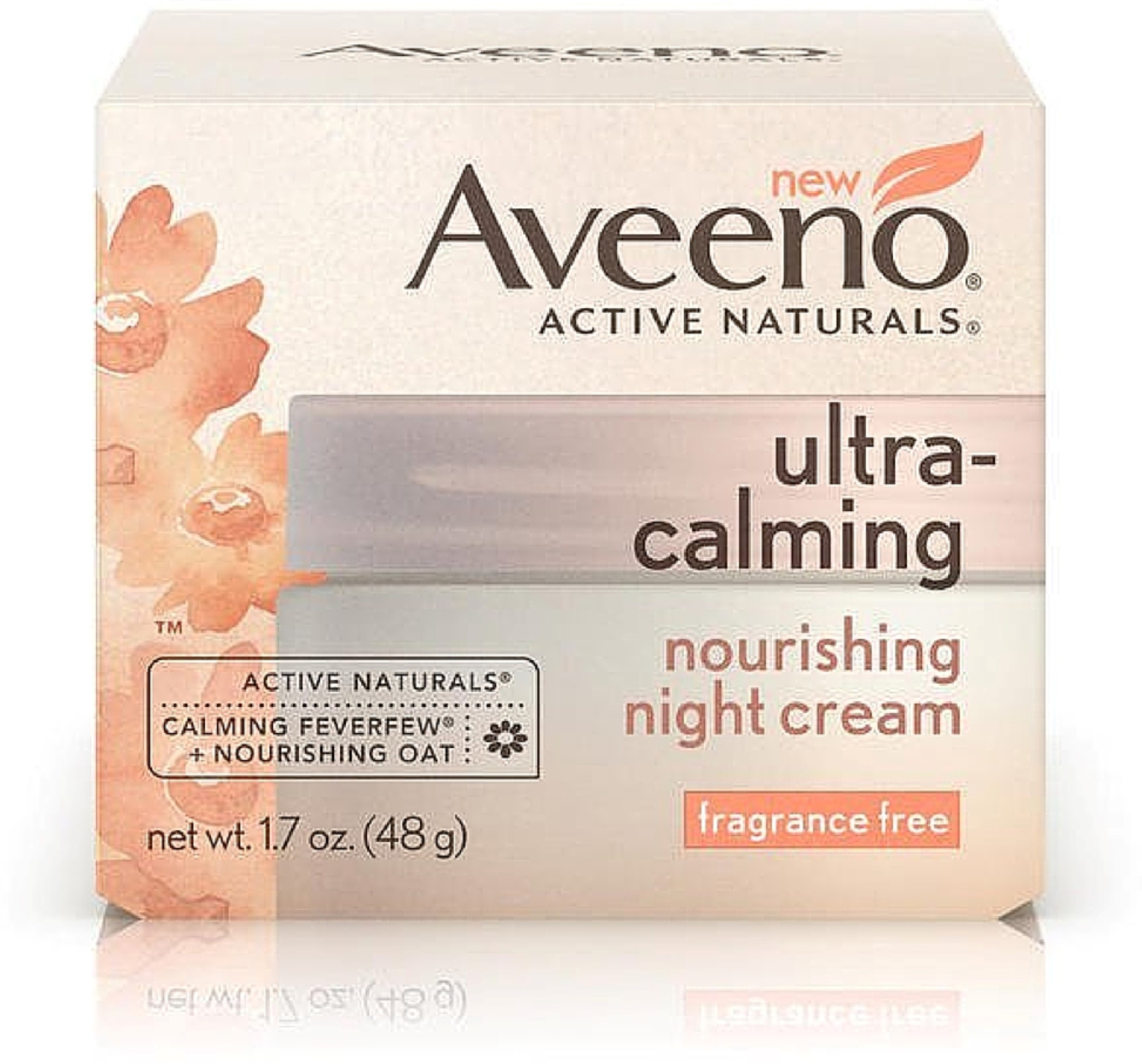 AVEENO Active Naturals Ultra-Calming Nourishing Night Cream, Fragrance Free 1.70 oz (Pack of 2)