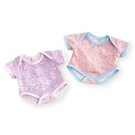 You & Me 12-14 inch Baby Doll 2 Pack Bodysuit Set - Animal Print Set - Me Doll