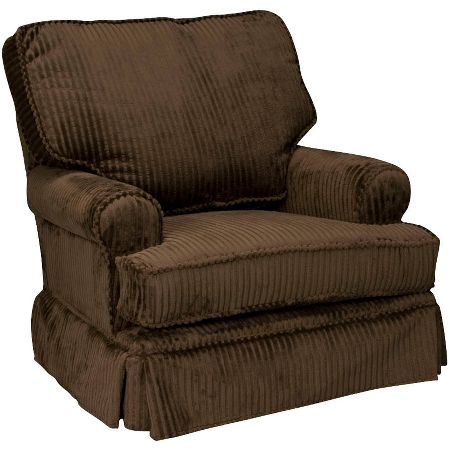 Newco International - Chenille Square Back Glider, Chocolate