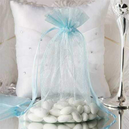 BalsaCircle 10 pcs 6x9 inch Organza Favor Bags - Wedding Party Favors Jewelry Pouch Candy Gift Small Bags