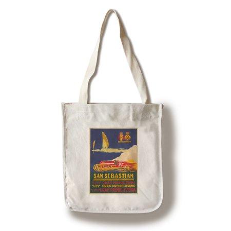 San Sebastian Vintage Poster (artist: Bellido) Spain c. 1926 (100% Cotton Tote Bag - (Sebastian Shaper Hand Press)