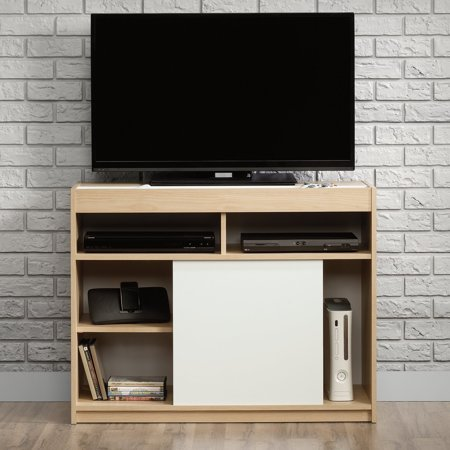 Sauder Square 1 Anywhere Console with Reversible Door - Urban Ash