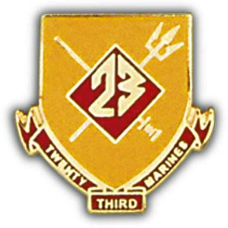 "U.S.M.C. 23rd Marine Regiment Pin 1"""