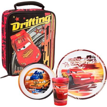 Zak cars 3 piece dinner set with insulated lunch bag for Decor 8 piece lunch set