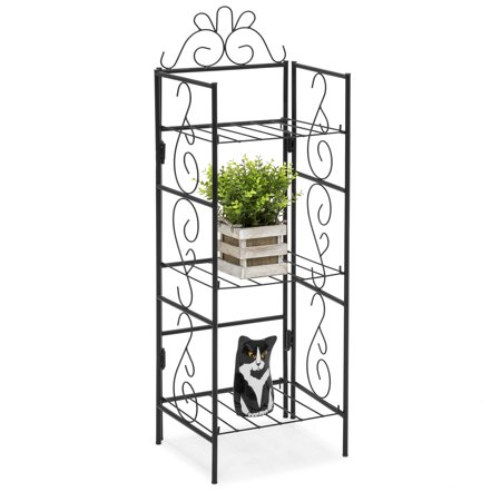 Best Choice Products 3-Tier Iron Freestanding Storage Rack for DIY Organization, Outdoor, and Indoor,