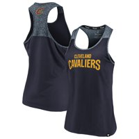Cleveland Cavaliers Fanatics Branded Women's Made to Move Static Performance Racerback Tank Top - Navy/Heathered Navy