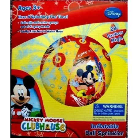 Disney Mickey Mouse Clubhouse, Giant Ball Water Sprinkler, 28 inches, Rolls and Sprays