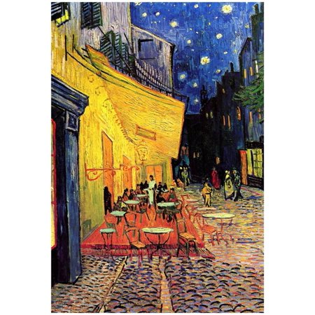 Vincent Van Gogh Cafe Terrace at Night Art Poster Print Poster - 13x19