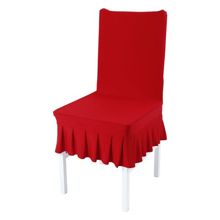 - PiccoCasa Spandex Spandex Dining Room Chair Covers Skirt Slipcover