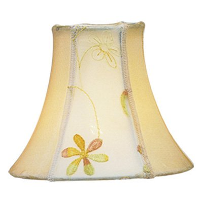 Livex S219 Embroidered Floral Silk Bell Clip Chandelier Shade