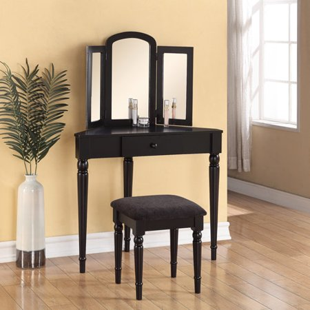 linon home decor corner vanity black - Walmart Home Decor