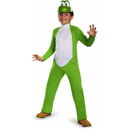 Mario Bros Costumes For Adults (Super Mario Bros. Boys' Yoshi Deluxe)