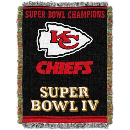 "NFL 48"" x 60"" Commemorative Series Tapestry Throw, Chiefs"