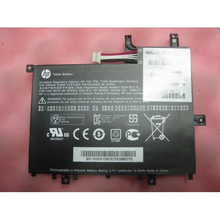 New Genuine HP Battery 724536-001 728687-001 SUN-B12-S For HP Slate 7 3500mAh