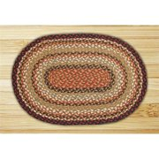 "Earth Rugs C-319 Burgundy / Mustard / Ivory Heart Braided Rug 20"" x 30"""