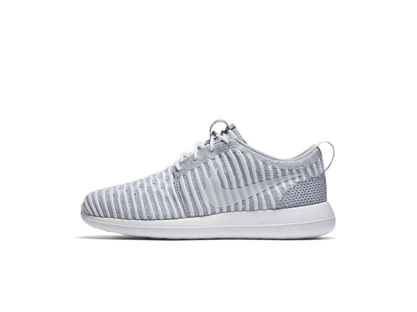 6fd6225f2a0c7 Nike Women s Roshe Two Flyknit Black   White Cool Grey Ankle-High Fashion  Sneaker - 7M