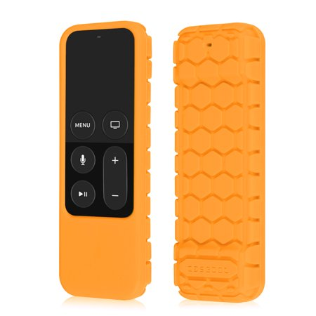 Apple TV (4th Gen) Remote Case – Casebot [Anti Slip] Light Weight  Shock Proof Silicone Cover, Orange