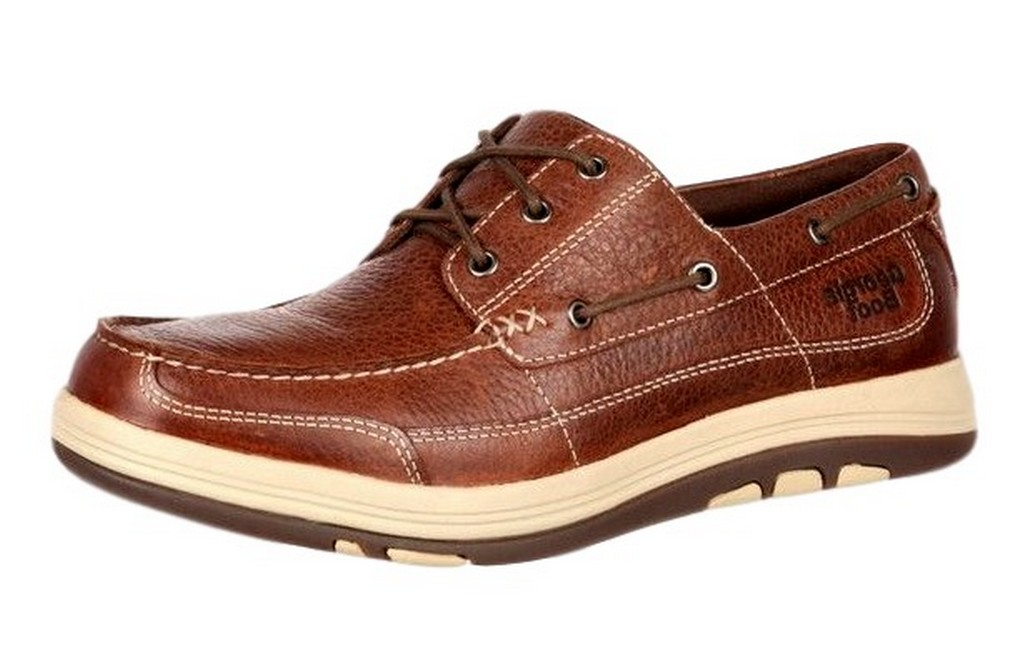Georgia Boot Work Mens Tybee Island Boat Style Stitch Brown GB00076 by Georgia Boot
