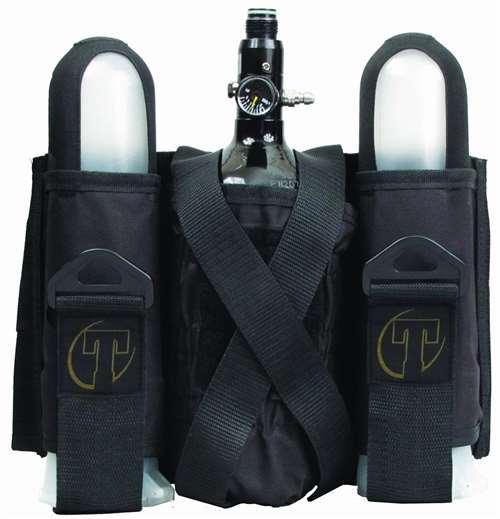 Tippmann SP Sport Series 2 +1 Paintball Harness Pod Pack w Tank Pouch - Black