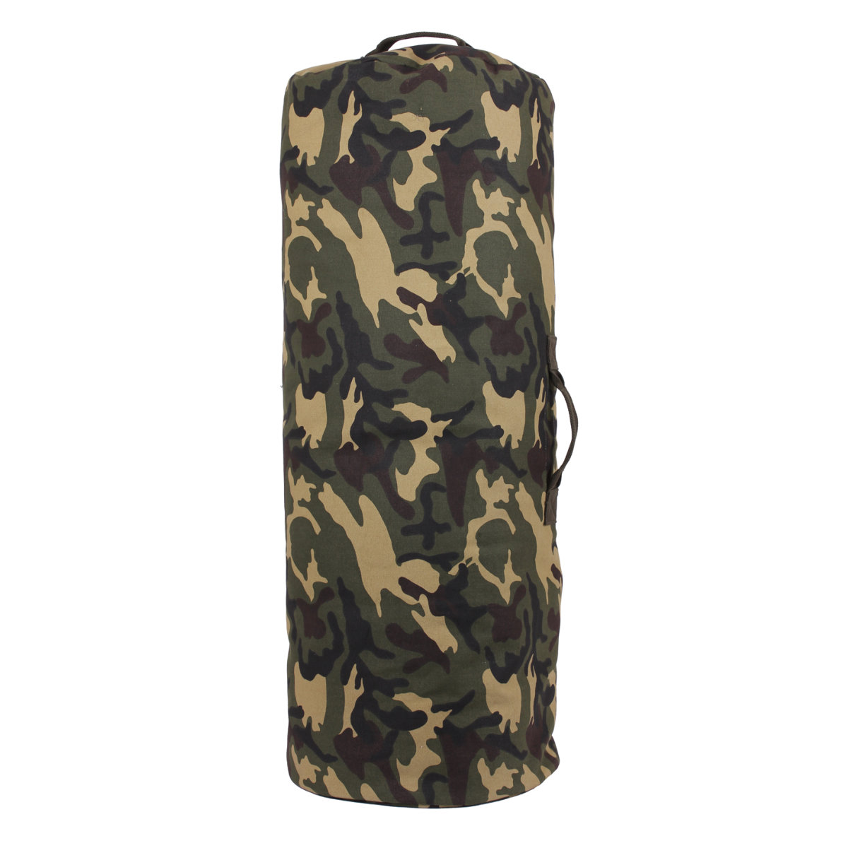 "Woodland Camo Side Zipper Canvas Duffle Bag Jumbo 25"" x 42"" by Rothco"