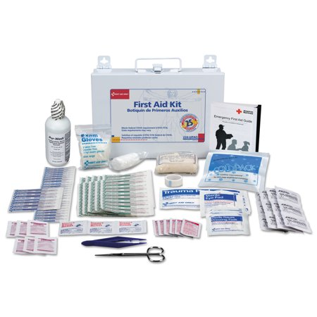 First Aid Kit Metal Case (First Aid Only First Aid Kit for 25 People, 106-Pieces, OSHA Compliant, Metal Case )