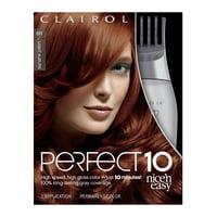 Clairol Nice 'n Easy Perfect 10 Hair Color, 6R Light Auburn