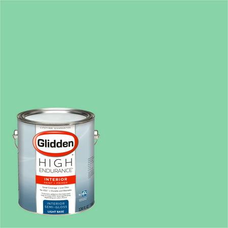 Glidden High Endurance, Interior Paint and Primer, Pillow Mint, # 90GY (Best Mint Green Paint)